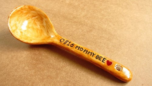 {Christmas gift sale in}  Customized ceramic tablespoon   (Customizable Name)