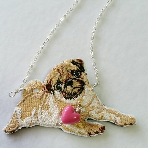 Silver-plated necklace clavicle baby starling embroidery