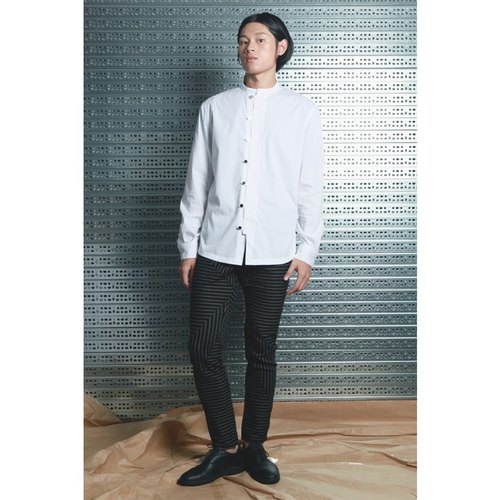Lu - Chinese collar shirt (white)