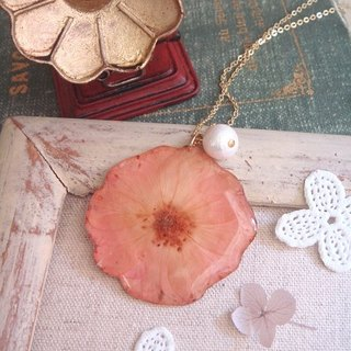Garohands pink roses embossed cotton pearl crystal film feels long chain A438 Christmas gift exchange gifts
