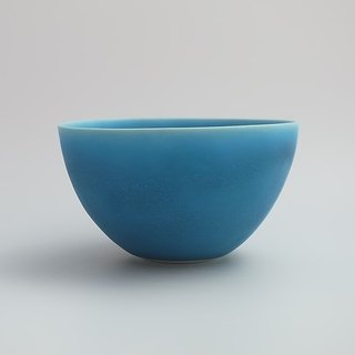 coco#2 turquoise (porcelain small salad bowl)