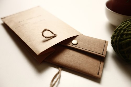 :: 27 washed kraft paper business card holder