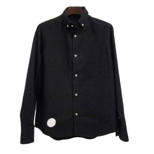 <Sサイズ> The black-and-white round die-cut by Tsumugirabo by black-dyed shirt traditional craft Nagoya black crested dyed in Japan