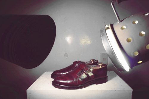 ~ ~ Vintage garden after dark burgundy dye face Munch shoes (Size men can wear No. 40-41)