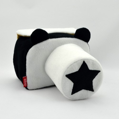 Camera bag (for your camera) the amount of manual machine custom personalized black and white bear cartoon 011