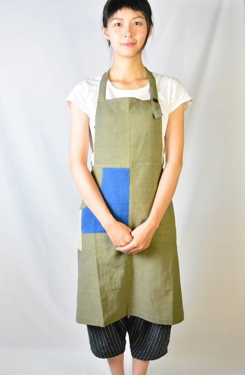 Vegetable dyes inverted T version straps overalls _ _ _ green, fair trade