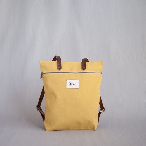 [100% handmade in Spain] Ölend Mapa Fabric| Leather |Zipper (Mustard)