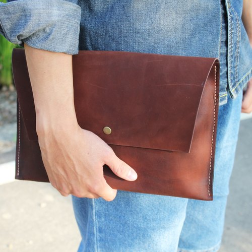 Everything simple. Clutch | to try new leather, revision of ~