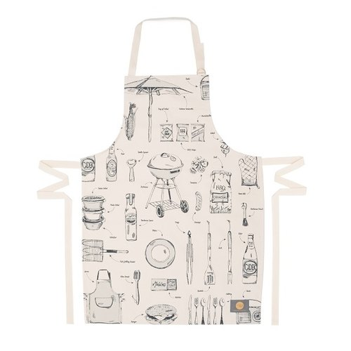 Victoria eggs carvery organic cotton aprons (gray)