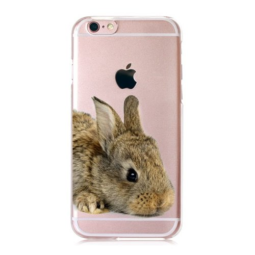 [Rabbit] iPhone healing transparent Phone Case - Big Tail rogue Valentine's Day