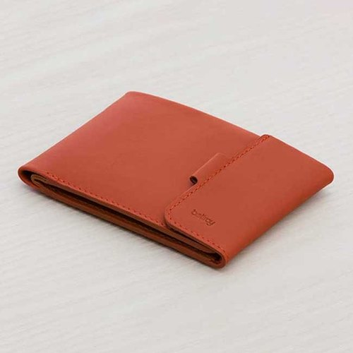 Plain-me exclusive agent in Australia leather brand BELLROY Coin Fold short clip leather fold-change (Tamarillo)