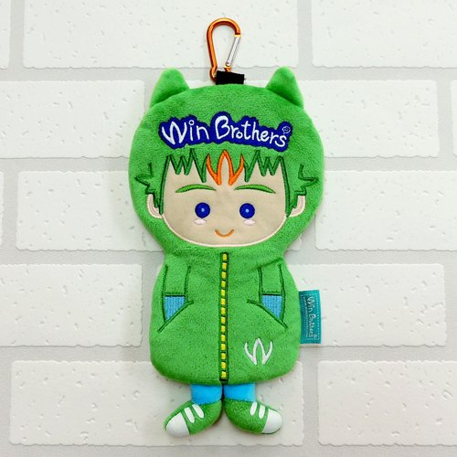 大允絨毛公仔筆袋 winbrothers soft plush doll pencil case  (B-win)