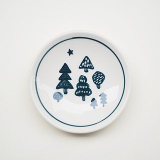 Small hand-painted porcelain - trees and stars