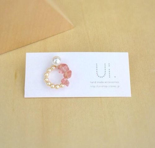 [14kgf] sally pierce pink Sally earrings pink