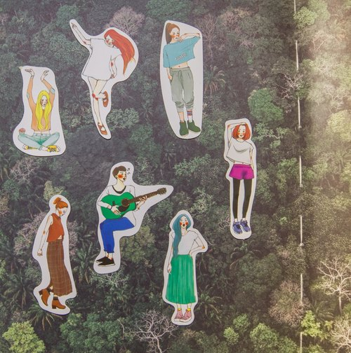 Stylish Girl Youthful Series Pack of 7 Stickers