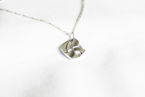 Natural series -Spring-handmade Silver necklace