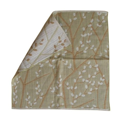 "Earth tree - ""organic cotton Series"" - perfect Nippon organic cotton small handkerchief - branches (two colors)"