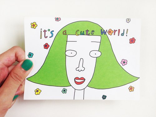 Cute World | Postcard