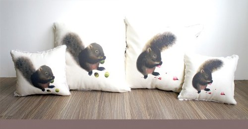 {E & A Life Design} callosciurus pillow four groups
