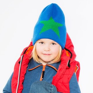 [Nordic children's clothing] Swedish organic cotton brush cap _ blue (suitable for 2Y-6Y)