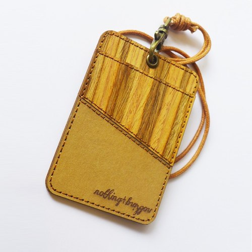 Cork leather Straight Card Holder