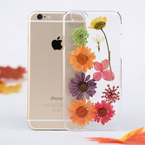 Handmade Pressed Flower Phone Case for iPhone & Samsung