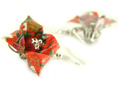 Origami earring (Y15BOK2CAr)