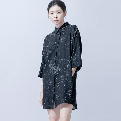 Night Scene Printed Shirt