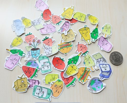 Barnes & Noble Original stickers - old の face