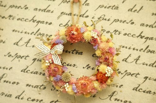 """Amoy Floral"" dry small wreath wedding small wedding dress props gift birthday gift home decoration candlestick"