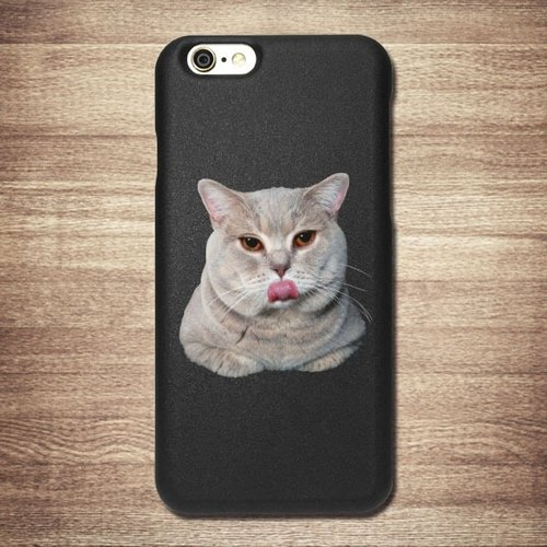 iPhone 6 / 6S is Qianbian cat [XD] meow Star Christmas black shell + 3D stereoscopic relief in Taiwan and Japan Patent money card phone shell, affectionate love boutique design