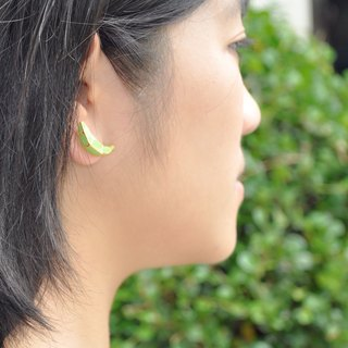 Glorikami Green Banana earrings