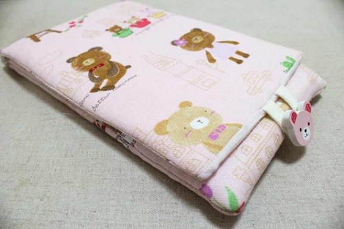 Seven-inch tablet phone Case - Pink Bear Florist