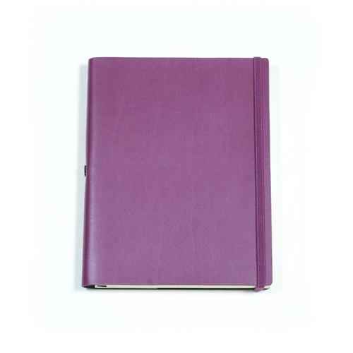 [Spot] No plain custom leather notebook B5 <purple> page within the lines