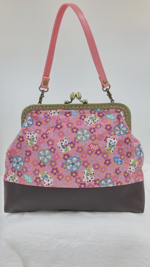 ╰MayMade╮Purse Bag (Cat Pink) Handmade