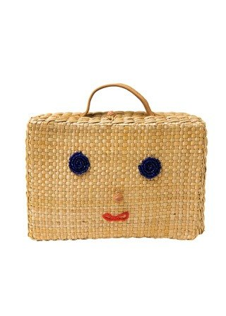 "Earth tree fair trade & eco- ""Bag Series"" - Peace straw handbag / props box / storage box (only one)"