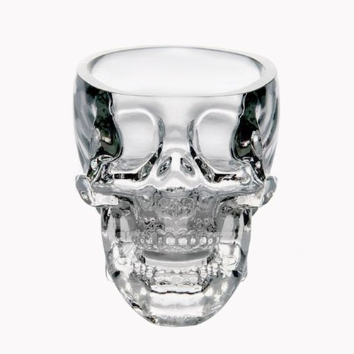 Crystal Skull [MSA] genuine imported from Canada Creative Crystal Skull Shot Glass Cup Novetly Crystal Skull Vodka Shot Glass Art Glass carving the crystal skull 5.5cm-GA1131