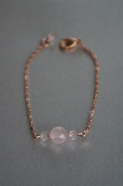 Natural pink crystal bracelet