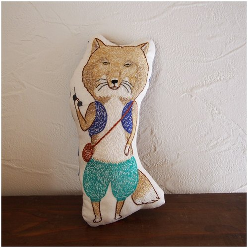 Embroidery cushion stuffed toy * Tibetan Sand Fox