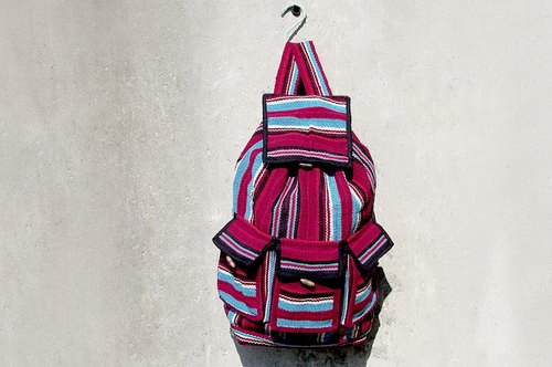 After weaving feel backpack - Psychedelic Lines