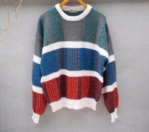 FOAK vintage sweater grass on French