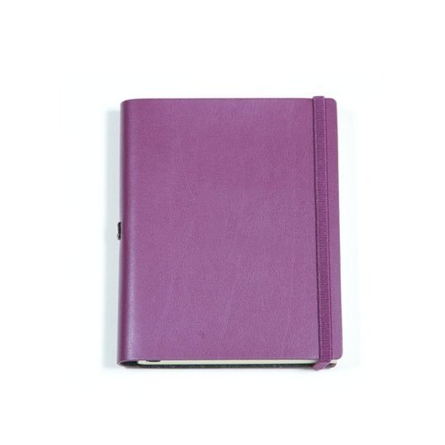 Vattern notebook Plain leather notebook B5 < purple >