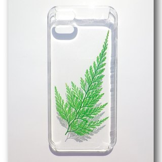 "Anny's workshop hand-made pressed flower phone case, ""fern"" at every life (black precipitous), welcomed the order"