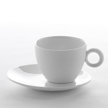 Eccentric white porcelain cup Gift Set (four in)