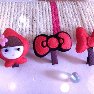 Non-woven ~ hairpin three groups ~ Q baby .KT bow. Minnie Bow