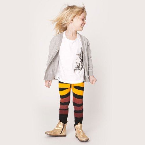 Scandinavian design] [Hand dyed organic cotton striped pants legs stick _ for 3Y-9Y Swedish children Shampoodle
