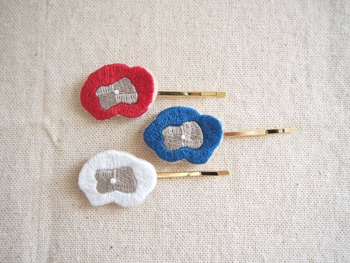 <Order production> flower embroidery hairpin