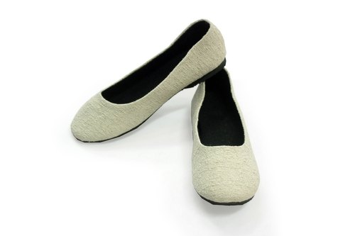 "EARTH.er  │WHITE ""ORGANIC OFFICE LADY"" Natural Hemp Office Lady Comfy Shoes│"