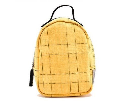 SOLIS [old man joint series] classic charm Multifunction Portable Bag (yellow black line)