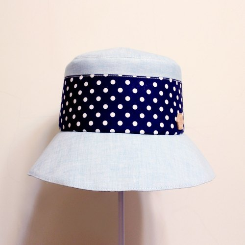 X JOJA│ Shuiyu little blue French country ladies custom hat